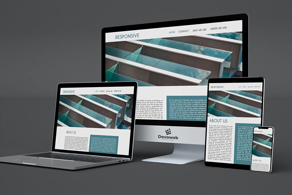 Transformation of a website into a responsive one